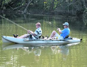 A kayak session in the Brisbane River for bass will be a great option this month.