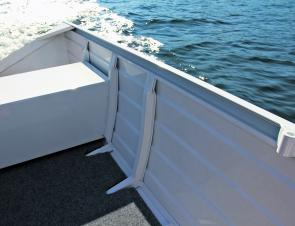 The carpeted floor is a great addition and the flat aluminium plates in the corners are perfect for a couple of rod holders.