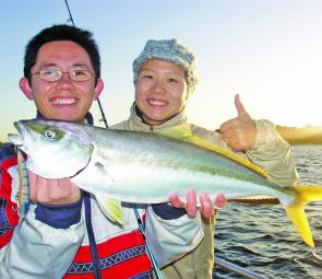 This kingie took one of the author's Bullet lures trolled early morning in Botany Bay.