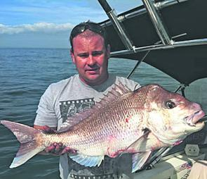 Brent Rietman with a quality late season, Port Phillip snapper.