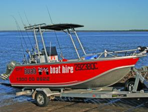 Boab Boat Hire have well equipped craft for hire in Hervey Bay, so travelling anglers don't have to miss out just because they don't have a boat.