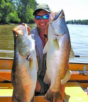 The Mary River produces some great barra at times. (George Horvath photo).