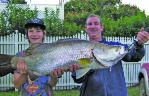 Not a bad barra for mid winter and only four hours from Brisbane. (George Horvath photo).