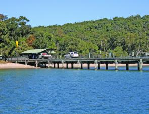 Kingfisher Jetty on Fraser Island is a great land-based fishing option. Just catch the barge over from River Heads.