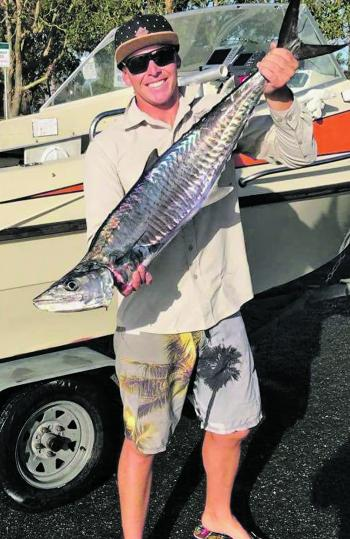Jimmy Mitchell with a lovely Spanish mackerel.