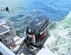The 140hp Suzuki four-stroke gets the vessel up on to a plane quickly.