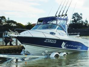 In designing the Evolution 550, Paul Junginger not only produced one of the best bay boats going, around but also a serious offshore trailer boat.