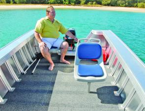Pedestal seats are certainly one option for the owner although the factory can easily set up plank seats as an option.