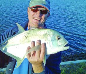Trevally and queenfish can be found in canals right through winter.