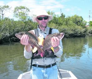 Long a scourge of the Clarence fish, Ritchie Duncan has found work closer to the Richmond, where he is enjoying new scenery and plenty of thrills with the local mangrove jacks.