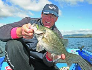 Casting blade baits to the edges and schooling bass has produced the goods at Somerset in the timber north of Kirkleigh.