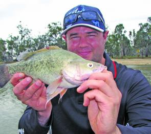 Gareth Lynch with a typical springtime yellow belly caught on a lipless crankbait.