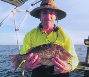Jamie Carrol with a bream. They will be on the bite in June