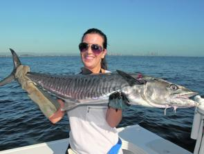 April is a great month to troll for Spanish mackerel on the inshore grounds.