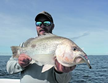 Nathan Nitchinsk from Hervey with a good golden snapper.