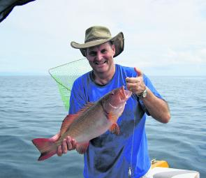 Coral trout, like this one caught by Bill Page, who was down from PNG, will be the main shallow water target species this month.
