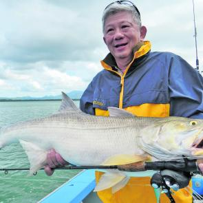Richard Kong with a tasty king threadfin salmon.