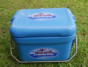 The Five Star Cooler is ideal for carrying a day's tucker in.