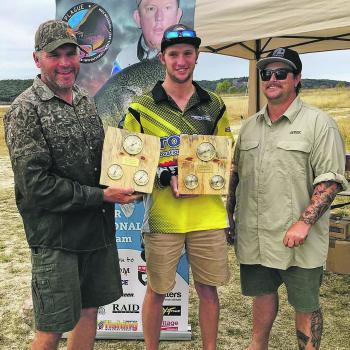 Father and son team Glen and Murray Stewart took out the inaugural JJ's Plague Topwater Invitational Competition recently.