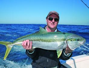 Kingfish are great fun and exceptional eating, especially those from deep water like this 8kg model.
