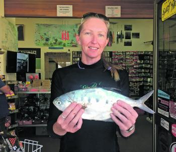 Afternoon winds haven't dampened the fishing spirit around Iluka.