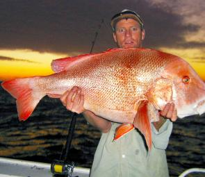 Peter with 16kg+ red emperor landed at the wide grounds.