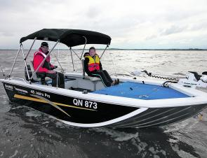 The Jabiru Pro 415 has plenty of fishing space for a small boat and would be ideal for keen estuary anglers.