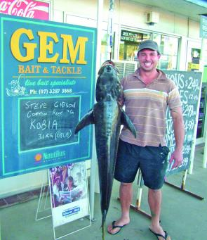 Steve Gibson with a sensational 31kg cobia. The smile says it all!