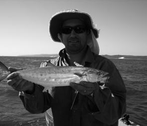 A juvenile School mackerel taken jigging the four beacons.