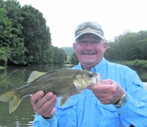 Col Bovis, of Ballina, met with success on his first bass mission, taking this and other fish on a Lucky Craft crankbait.