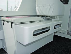 Both seat/iceboxes offer additional side storage as a bonus.