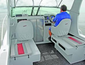 Seats on the icebox units make sure that all aboard can easily converse while heading out to the fishing grounds.