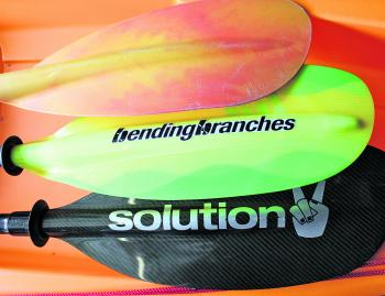 A quality paddle makes your time on the water more enjoyable. A selection of the author's paddles.