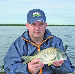 Bream are frequenting the waters with chicken strips the most productive bait.