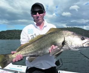 Luke put in the hard yards on a recent charter and was rewarded with this awesome mulloway late in the day.