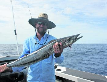 Dave with a ripper wahoo caught at Barwon Banks.