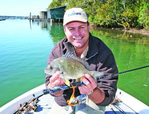 After big flathead and snapper, bream seem modest targets but they're a lot of fun on surface lures and this month they should come into their own.