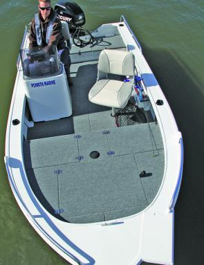 A big forward fishing platform with a secure mount for an electric motor – the Stacer 429 Proline Angler means fishing business.