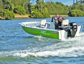The 429 Proline Angler is well-matched to its 40hp Mercury four-stroke to produce nimble, stable handling.