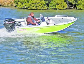 The Stacer 429 Proline and Mercury 40hp four-stroke blend into a sporty, economical package great for estuaries and impoundments.