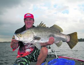 Craig Griffiths only caught one fish at Teemburra, and that was in the first half an hour on the first day, but it was enough to win him the Killalure Big Barra Prize.