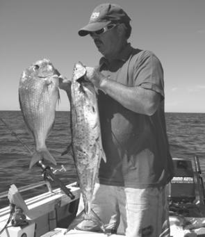Inshore reefs can turn up mixed bags of snapper, mackerel and other tropical visitors this month.