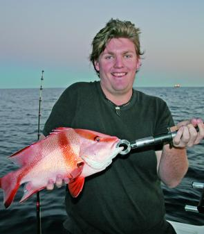 Guy Maybury with a red emperor taken from Murphys Reef.