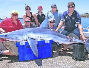 Big makos are still about – this crew went home very happy.