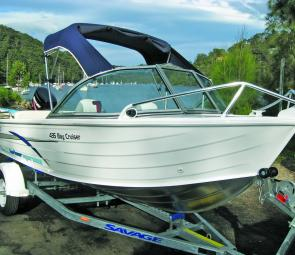 This compact four person fishing craft comes with ample features at a modest price.