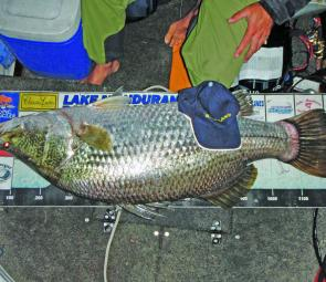 The event's Big Barra went 124cm and was caught by Michael Weick.