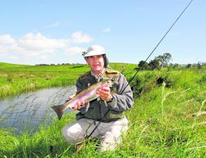 The author with a decent New England rainbow.