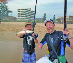 South Australian father-and-son team Sam and Hamish had a ball on whiting to 33cm – not as large as the King George whiting they were more familiar with, but still a barrel of laughs.