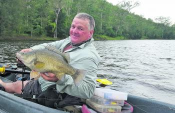 John Bryant caught this golden perch while kayaking a section below one of South East Queensland's dam walls.