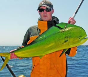 Todd picked up this quality mahi mahi on a local FAD. Pity there aren't more FADs to go around on the Illawarra.